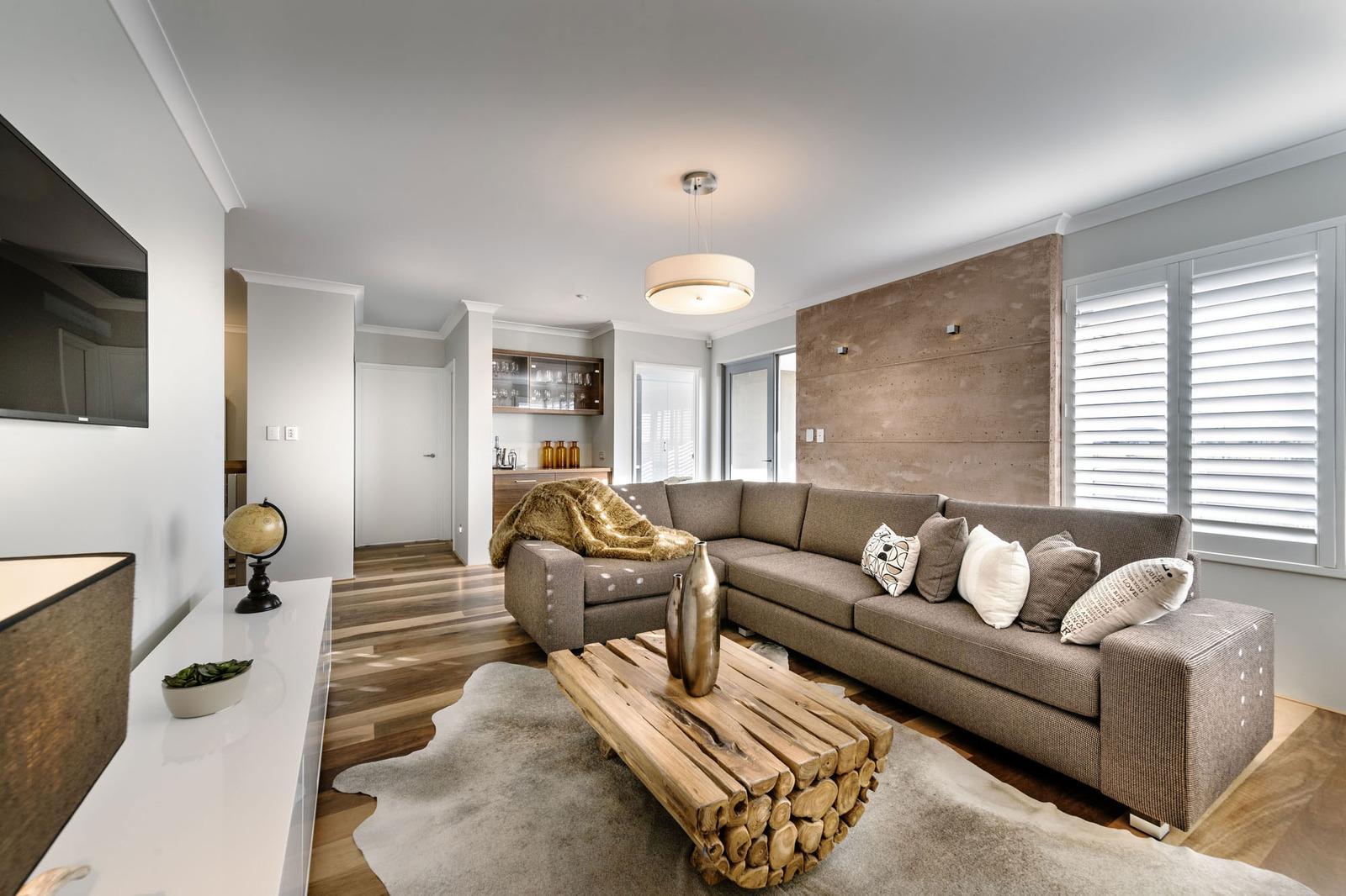 combinación decorativa de una casa moderna