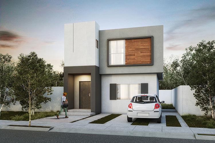 Casa en venta en Saltillo modelo Milán 2 en Villas Castellana