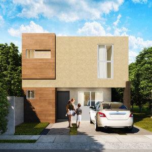 Foto de fachada de casas en Saltillo, modelo Siva en Real Ankara.