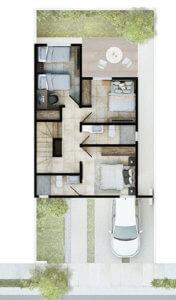 Foto de planta alta de casas en Saltillo, modelo Siva en Real Ankara.
