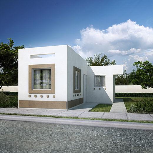 Casas en ramos arizpe coahuila villasol buscandocasa for Fachadas de casas modernas en queretaro