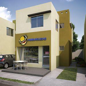 Casas en Reynosa – Modelo Casa Tienda