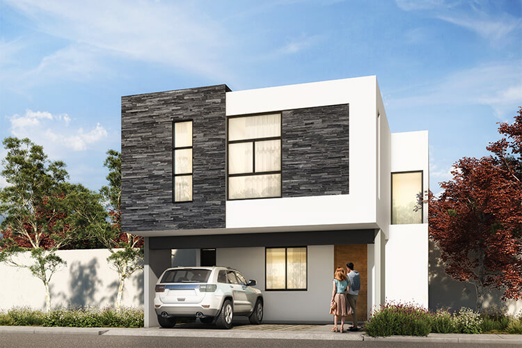 Casa en venta en Querétaro modelo Daya en Antalia Residencial.