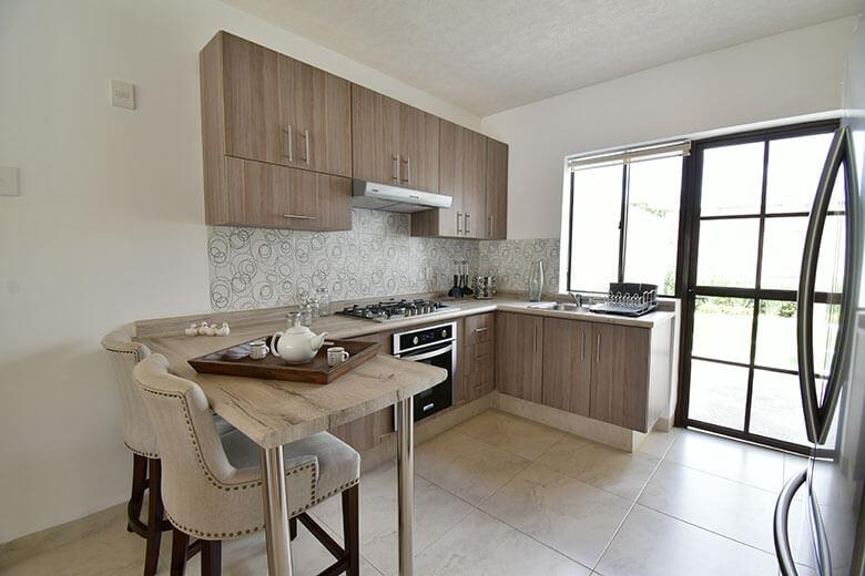 Casas en León, Gto. Capellanía Residencial, modelo Andalucía, cocina.