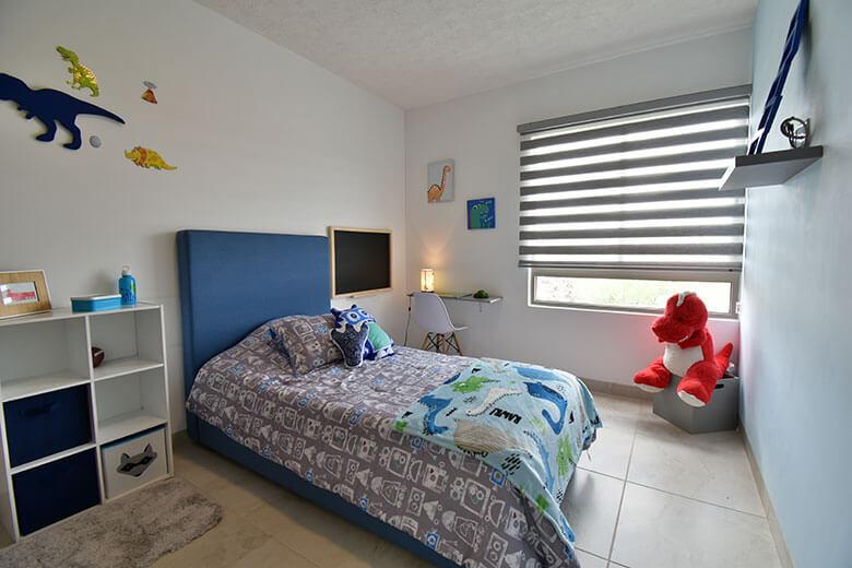 Casas en León, Gto. Capellanía Residencial, modelo Andalucía, recámara secundaria niño.