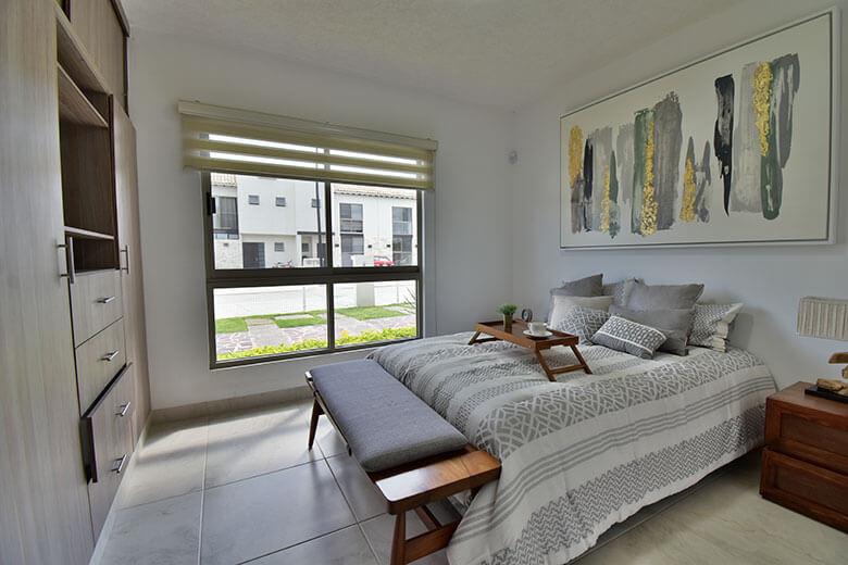 Casas en León, Gto. Capellanía Residencial, modelo Málaga, recámara planta baja.