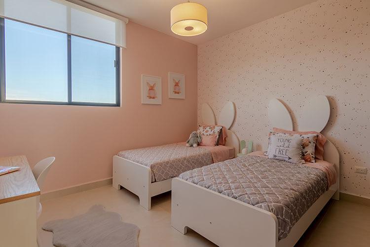 Recámara secundaria doble de casa en Zibatá modelo Daya en Antalia Residencial