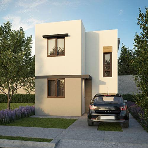 Casa en venta en Juárez, N. L. modelo Marsella Elite en San Francisco.