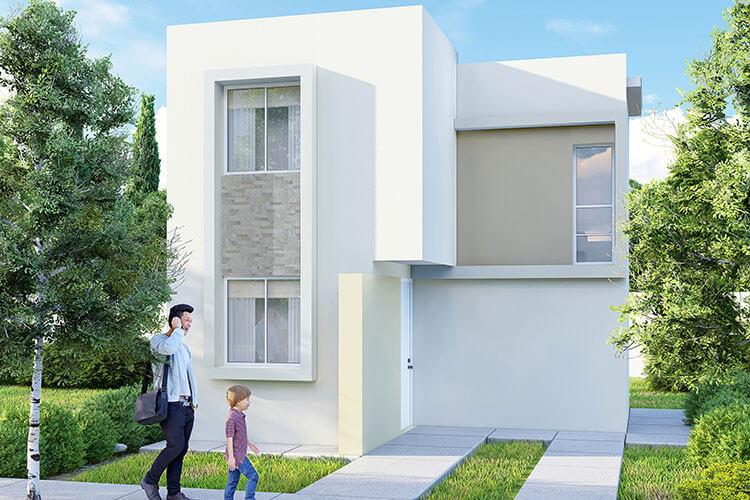Casa en venta en Escobedo, N. L. modelo Marsella 8 en Villas Buenavista.