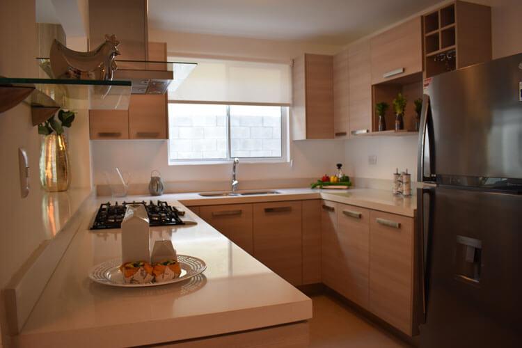 Cocina de casa en Guadalupe modelo Soria en Paseo Amberes.