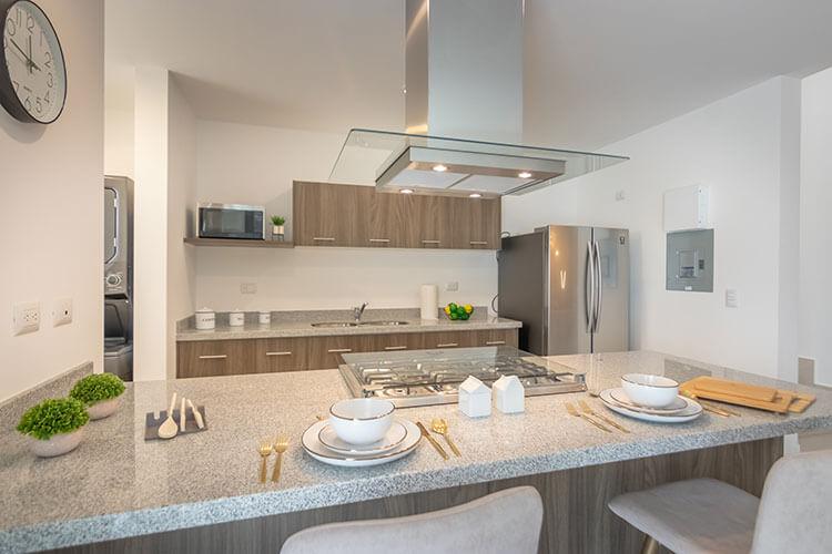 Cocina de casa en Ankara Residencial modelo Nava Descendente