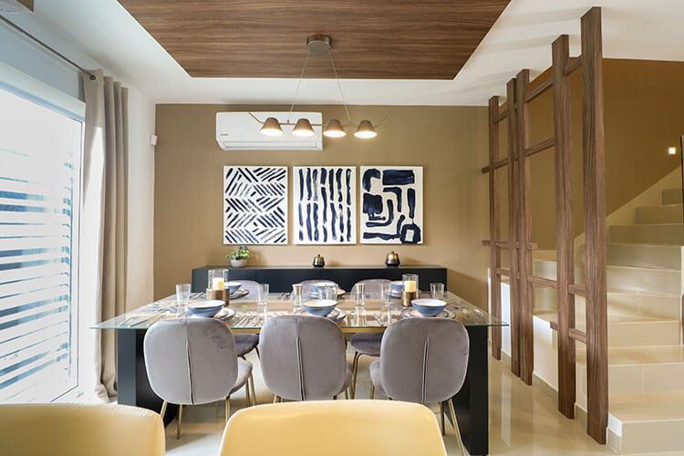 Comedor de casa modelo Ibiza VI en Kebana Residencial.