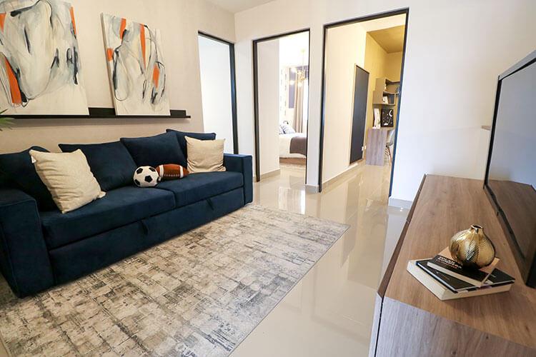 Estancia de casa modelo Ibiza VI en Kebana Residencial.
