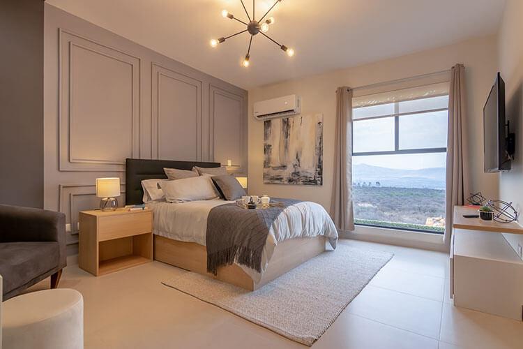 Recámara principal de casa modelo Nava en Ankara Residencial.
