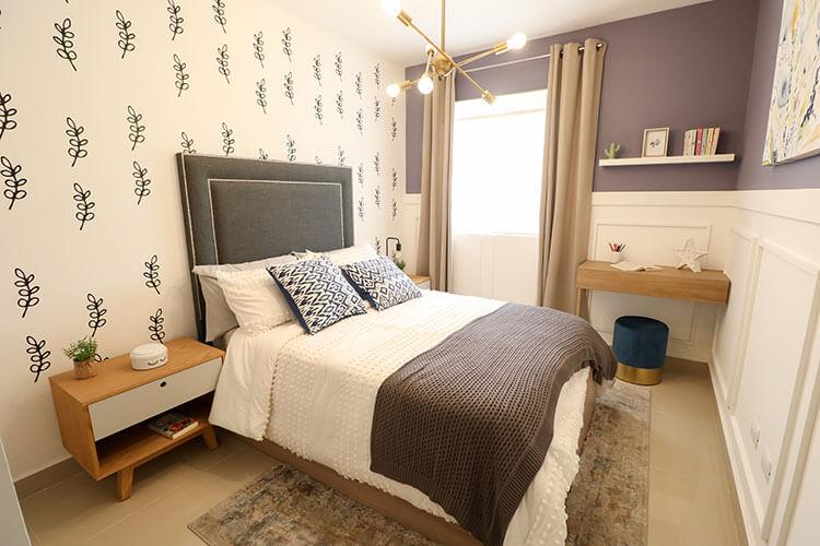 Recámara secundaria de casa modelo Ibiza VI en Kebana Residencial.