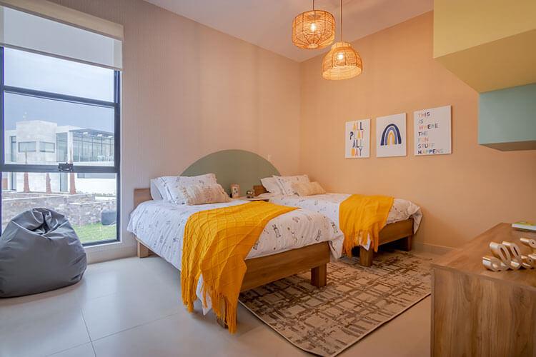 Recámara secundaria de casa modelo Nava en Ankara Residencial.