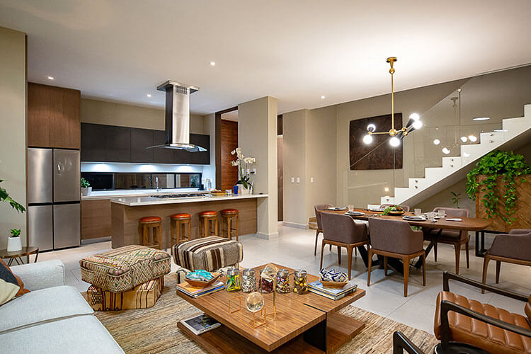 Sala de casa en Cumbres modelo Inland en Península.