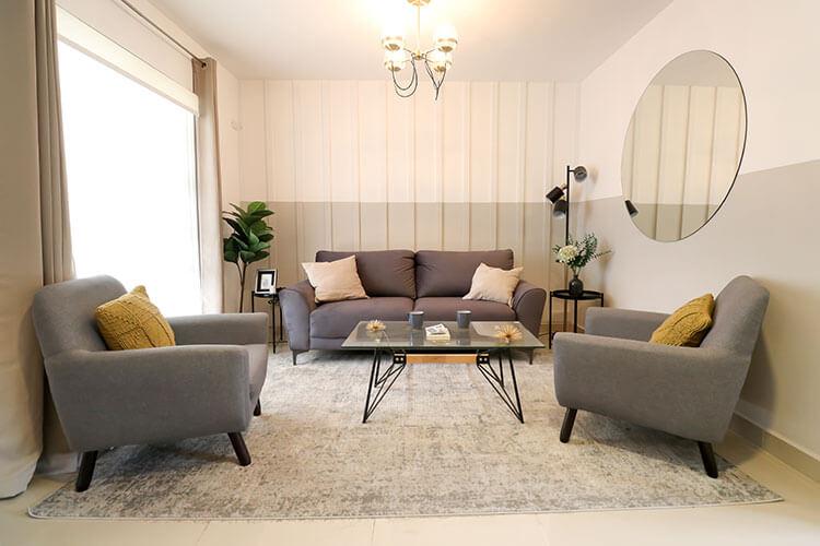 Sala de casa modelo Ibiza VI en Kebana Residencial.