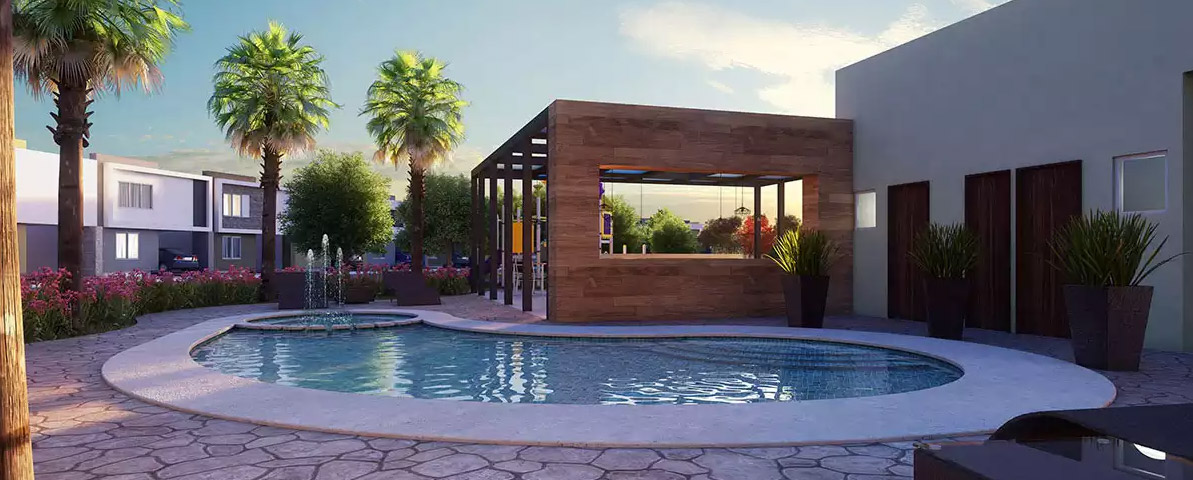 Casas en cumbres Monterrey - Alberca - Samsara Residencial