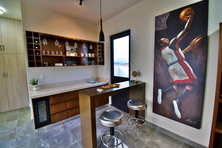 Área de bar de casa en Saltillo modelo Duna en Alyssa Residencial.