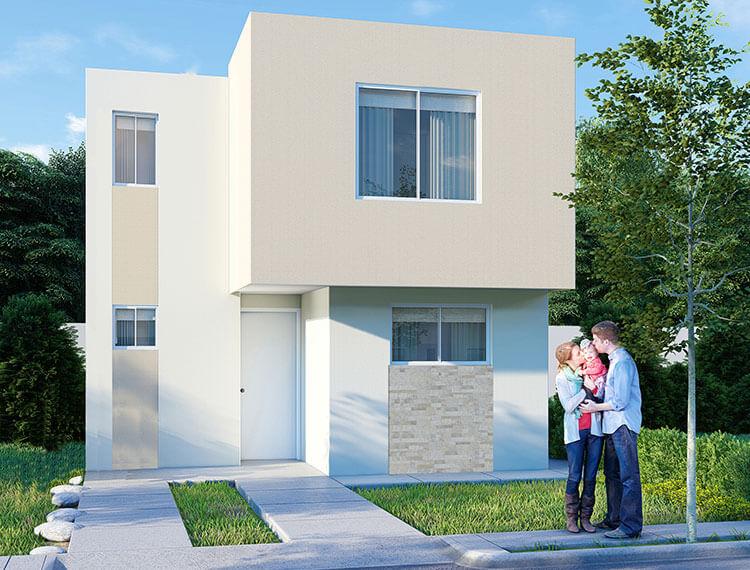 Casa en venta en Saltillo modelo Castilla VII en Los Llanos Residencial.