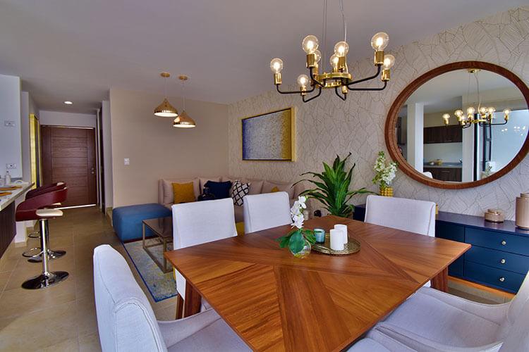 Comedor de casa modelo Galia en Lenna Residencial