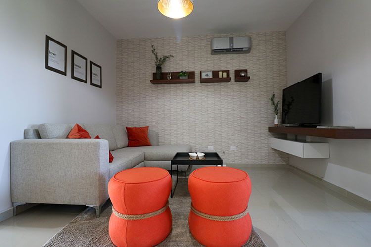 Estancia de casa en Saltillo modelo Corella II en Montevista Residencial.