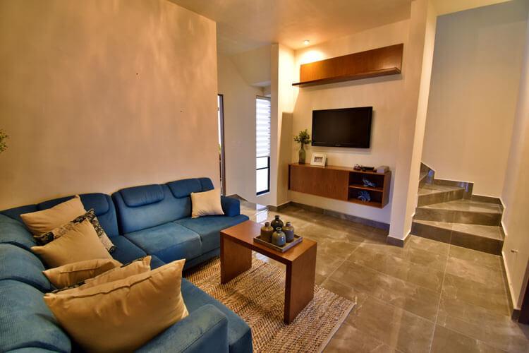 Estancia de casa en Saltillo modelo Duna en Alyssa Residencial.