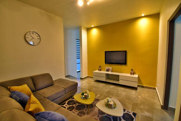 Estancia de casa modelo Khali en Alyssa Residencial.
