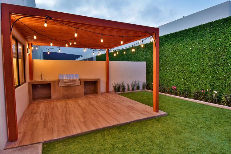 Área de jardín de casa en Saltillo modelo Duna en Alyssa Residencial.