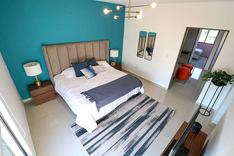 Recámara principal de casa en Saltillo modelo Corella II en Montevista Residencial.