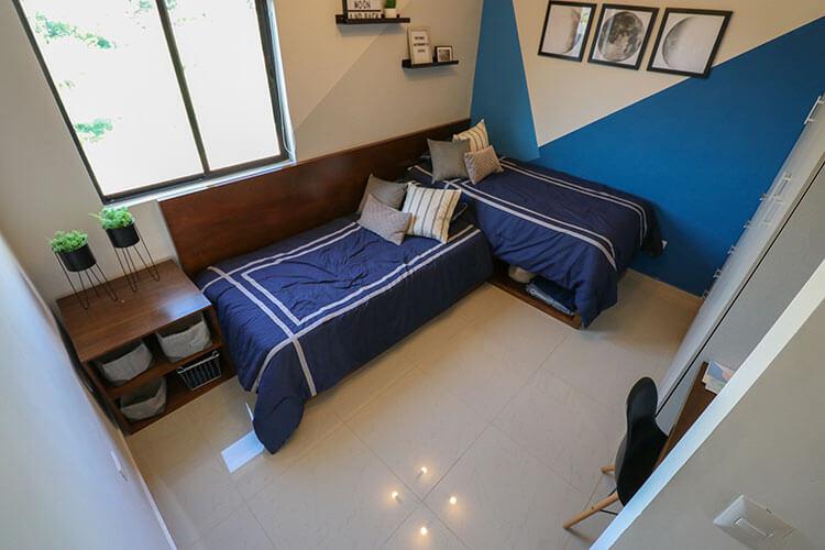Recámara secundaria de casa en Saltillo modelo Corella II en Montevista Residencial.