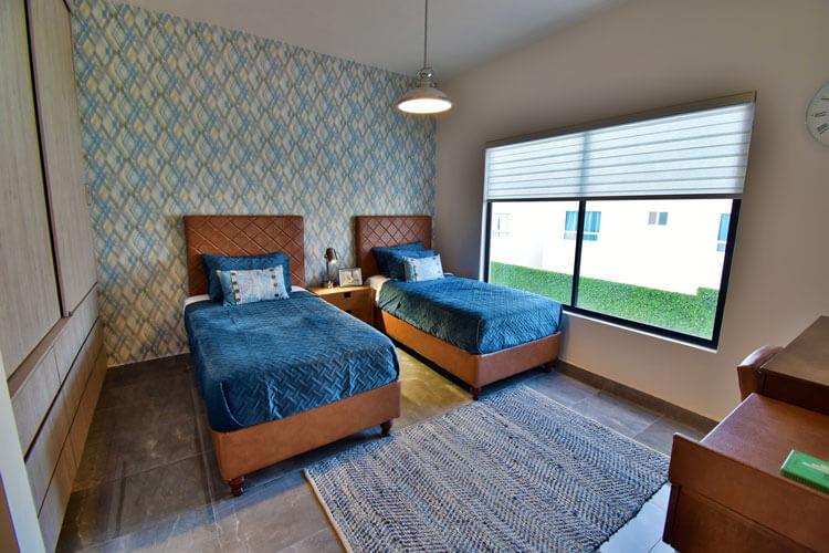 Recámara secundaria de casa en Saltillo modelo Duna en Alyssa Residencial.