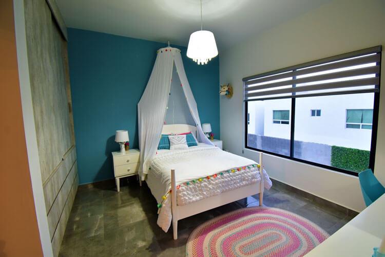Recámara secundaria de casa modelo Khali en Alyssa Residencial.
