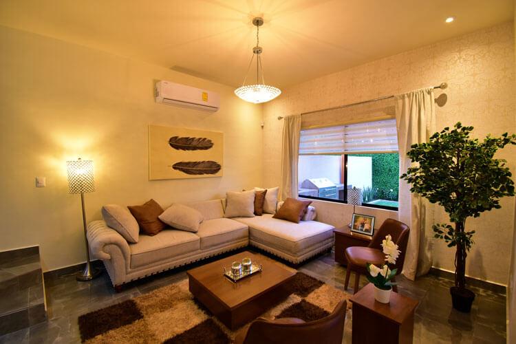 Sala de casa en Saltillo modelo Duna en Alyssa Residencial.