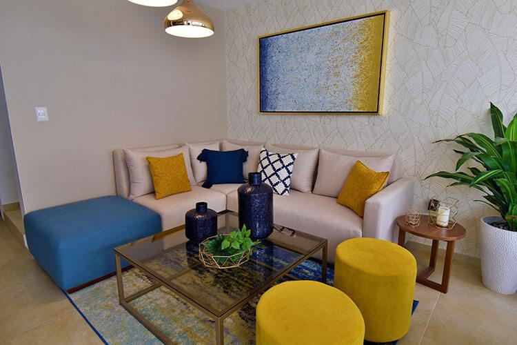 Sala de casa modelo Galia en Lenna Residencial