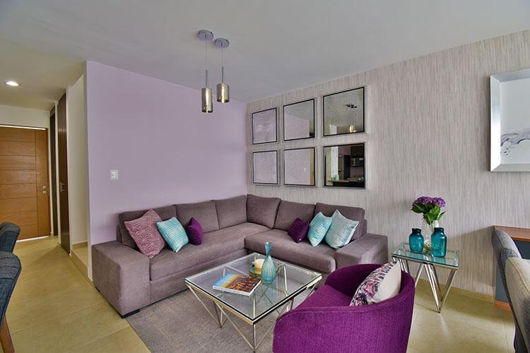 Sala de casa modelo Lenor 2 en Lenna Residencial