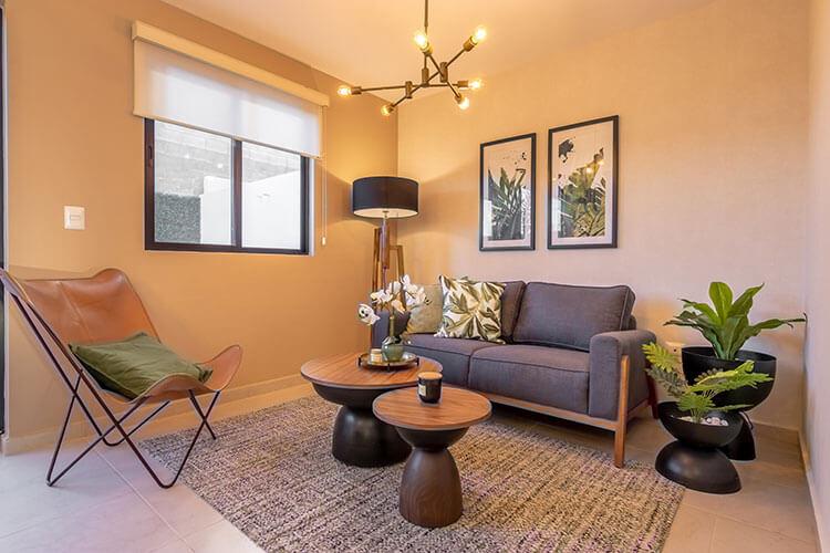 Sala de casa modelo Lyra en Alhandra Residencial.
