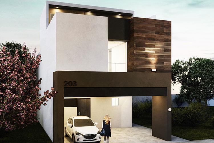 Casa en venta en Apodaca modelo Attena en Monetta Residencial, fachada 2.