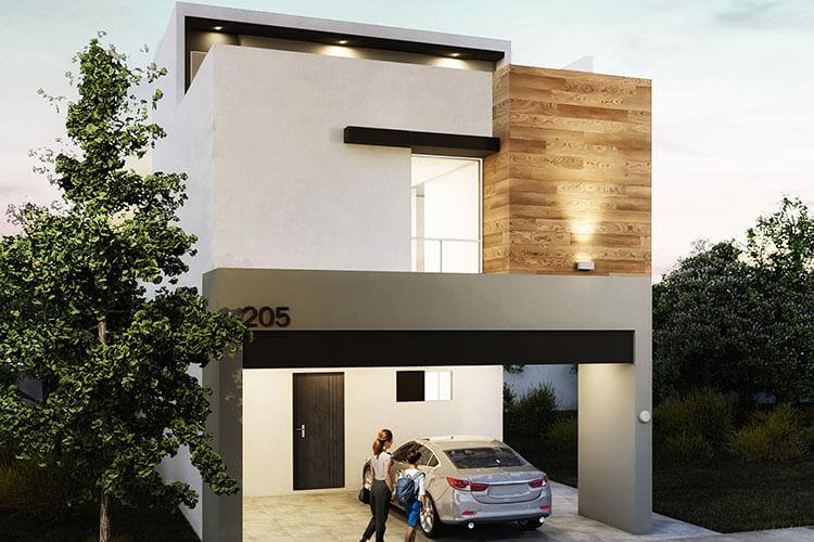 Casa en venta en Apodaca modelo Attena en Monetta Residencial, fachada 3.
