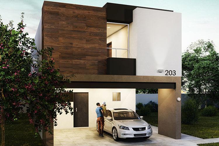 Casa en venta en Apodaca modelo Viana en Monetta Residencial, fachada 2.