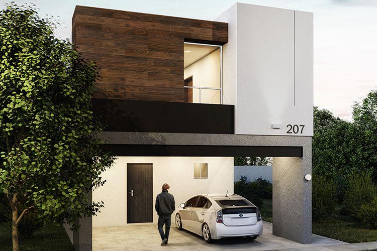 Casa en venta en Apodaca modelo Viana en Monetta Residencial, fachada 4.