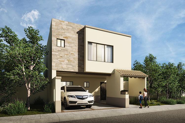 Casa en venta en León modelo Navarra en Mayorazgo Santa Elena.