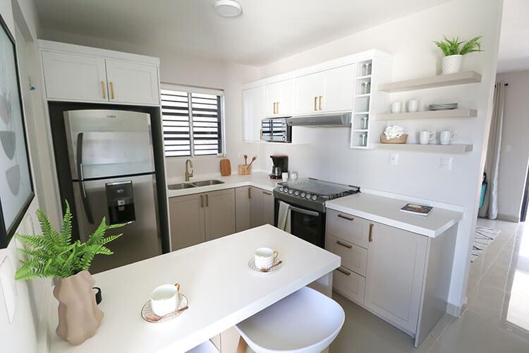 Cocina de casa modelo Ibiza 3N en Montenova Residencial.