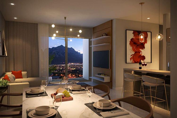 Departamento en venta en Monterrey tipo N-L en Torre West