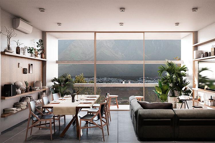 Departamento en venta en Monterrey modelo House Vista 2 en Borenia