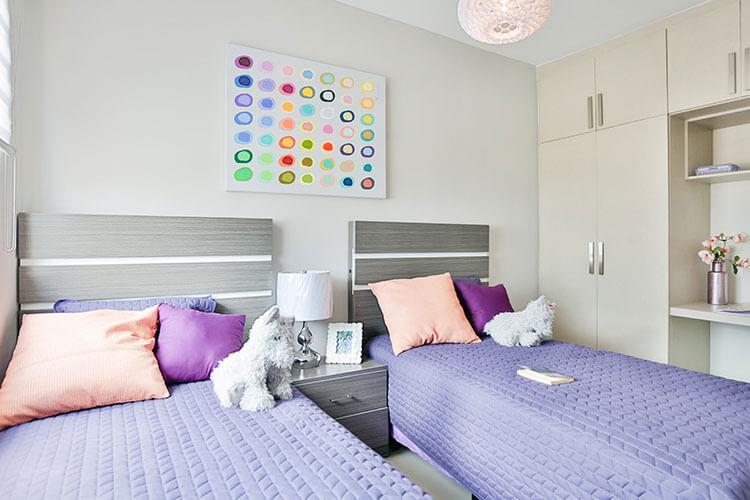 Recámara secundaria de casa en Cumbres modelo Ibiza VI en Montenova Residencial.