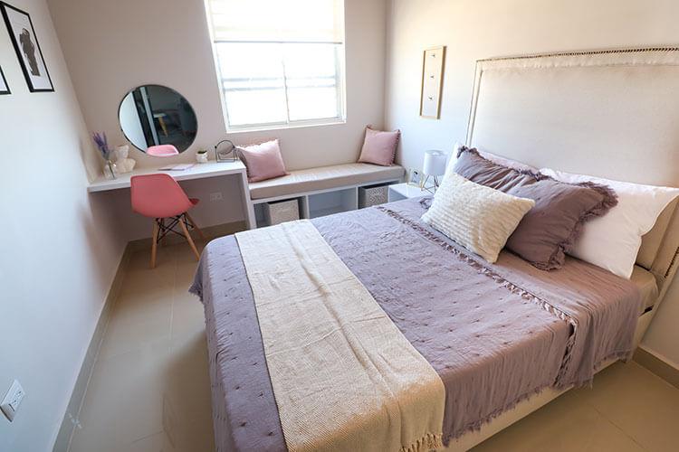 Recámara secundaria de casa modelo Ibiza 3N en Montenova Residencial.
