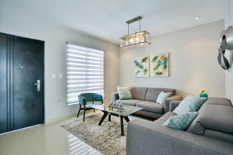 Sala de casa en Cumbres modelo Ibiza VI en Montenova Residencial.
