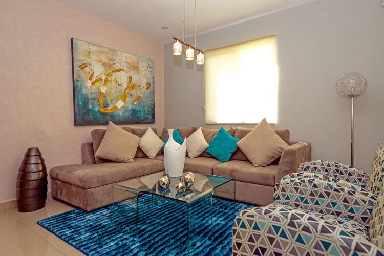 Sala de casa en Escobedo modelo Ibiza VI en Anáhuac San Patricio.